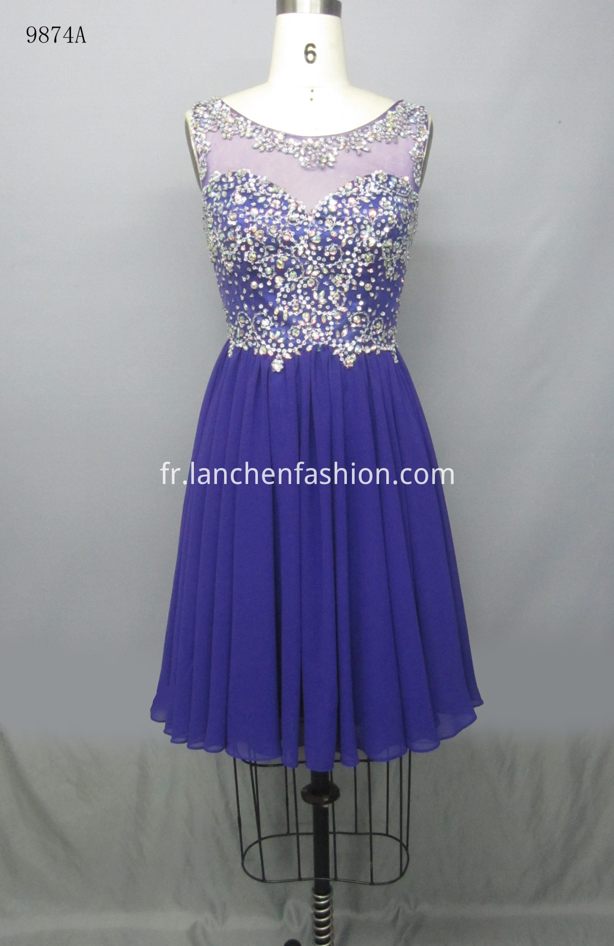 Chiffon Dress PURPLE